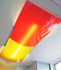 Farbige deckenleuchten raumlicht organisches design for Deckenleuchten farbig